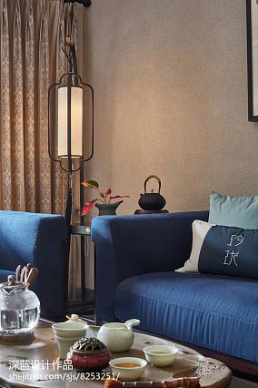 热门76平米二居客厅中式装修欣赏图片大全