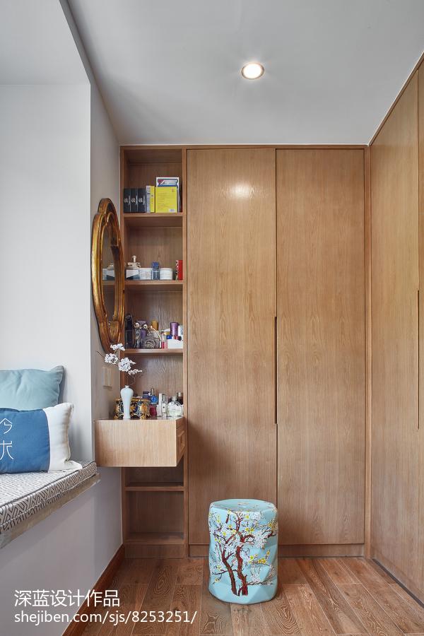 中式卧室衣柜设计图功能区木地板中式现代功能区设计图片赏析