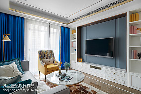 华丽93平法式三居装修装饰图
