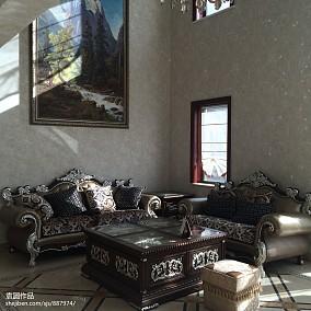 质朴360平新古典别墅客厅装潢图