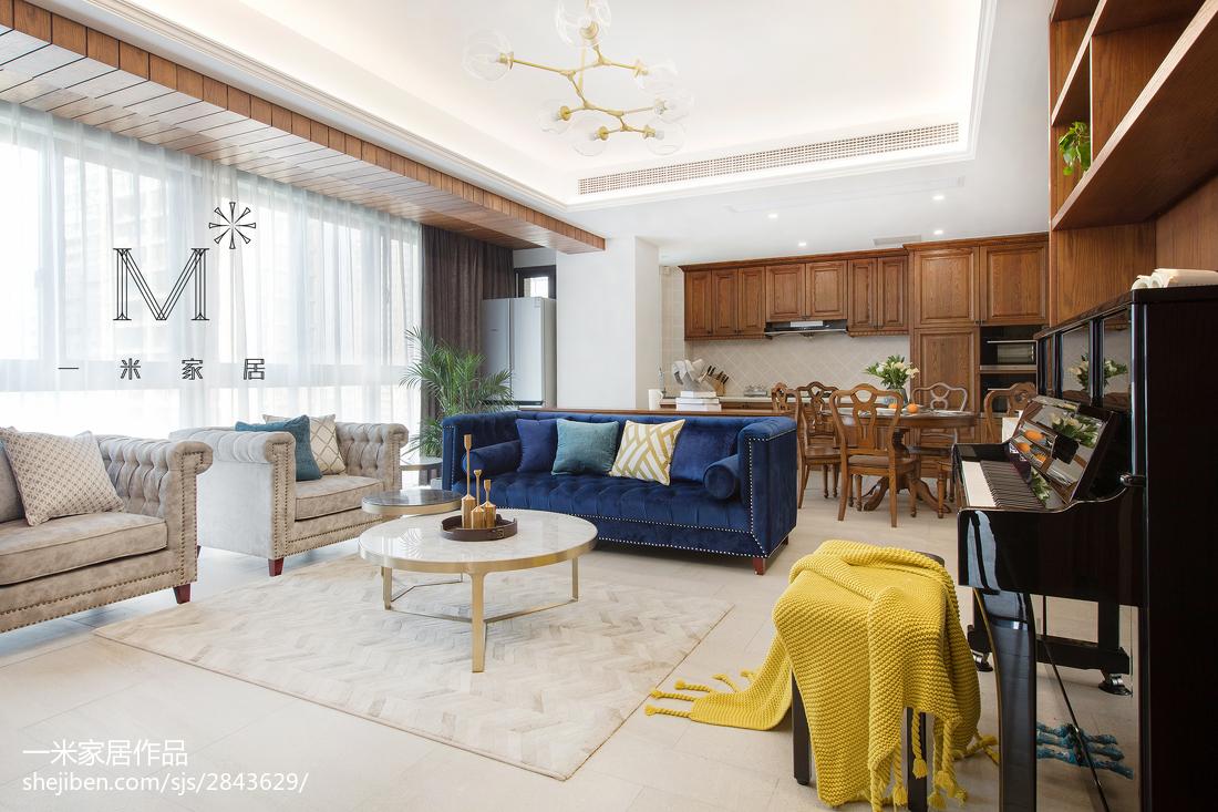 热门106平米三居客厅现代装修设计效果图客厅
