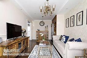 精美美式小户型客厅装修效果图