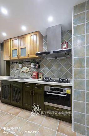 2018精选82平米美式小户型厨房欣赏图片大全一居美式经典家装装修案例效果图