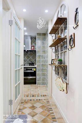 热门面积73平小户型厨房美式实景图片欣赏