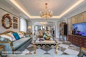 热门面积111平别墅客厅装修设计效果图片欣赏
