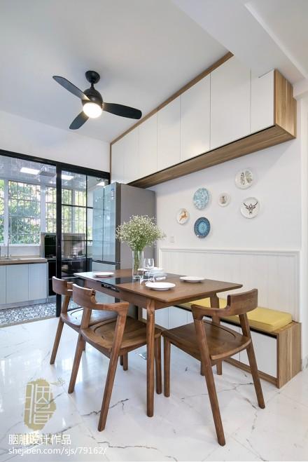优美122平北欧四居餐厅布置图厨房