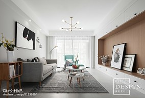 四居北欧客厅设计图片四居及以上北欧极简家装装修案例效果图