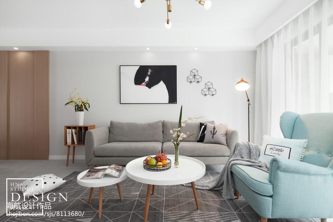 四居北欧客厅沙发设计图四居及以上北欧极简家装装修案例效果图