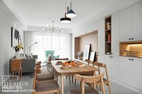 四居北欧小餐厅设计图四居及以上北欧极简家装装修案例效果图