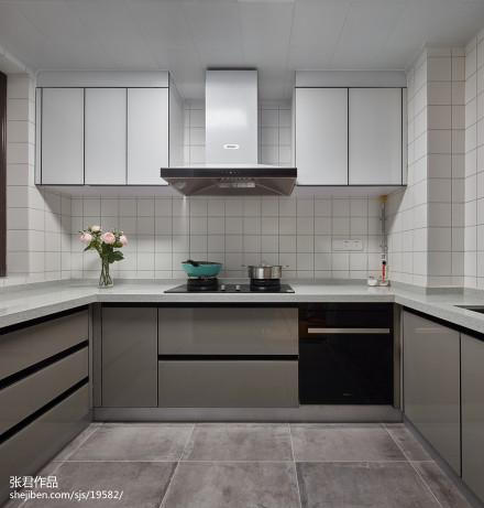 原木北欧风厨房设计图片餐厅
