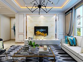 精选面积109平简约三居客厅装修欣赏图片