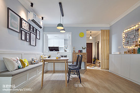 热门大小95平北欧三居餐厅装修效果图片