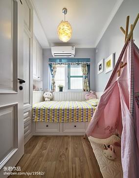 精美面积77平北欧二居儿童房装修图片欣赏