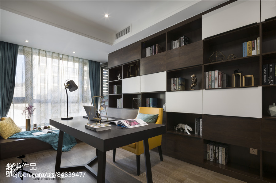 最新142平米四居书房现代装饰图片欣赏