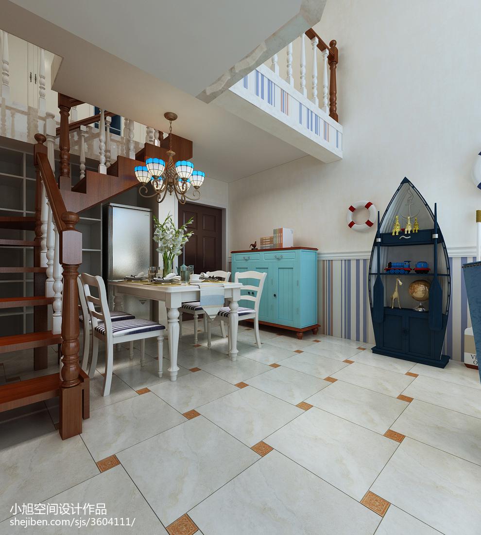 熱門78平米二居餐廳地中海裝飾圖片大全廚房地中海餐廳設計圖片賞析