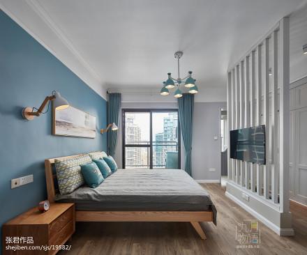 优雅116平北欧四居装修图卧室