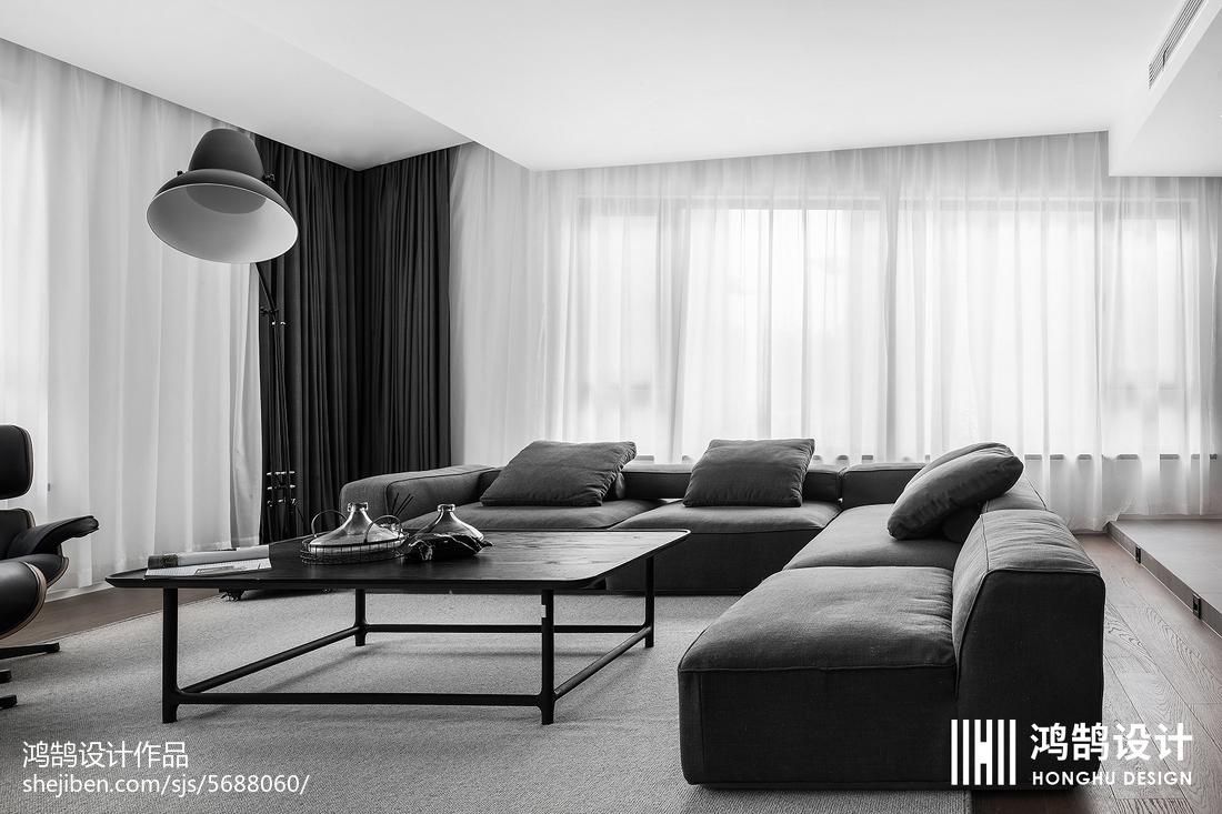 热门面积78平现代二居客厅装修欣赏图片大全客厅4图