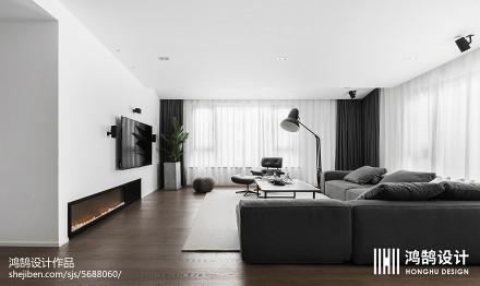 精选面积72平现代二居客厅实景图片大全二居现代简约家装装修案例效果图