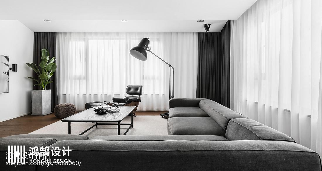 2018精选83平方二居客厅现代装修设计效果图片大全客厅现代简约客厅设计图片赏析