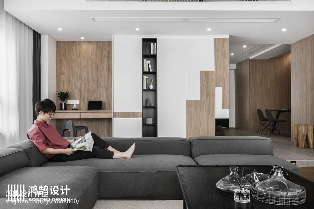 精选面积86平现代二居客厅装修设计效果图片欣赏客厅现代简约客厅设计图片赏析