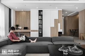 精选面积86平现代二居客厅装修设计效果图片欣赏二居现代简约家装装修案例效果图