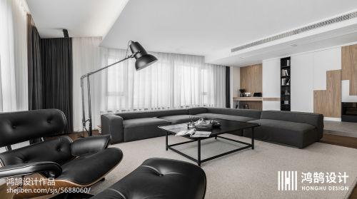 平米二居客厅现代装修实景图片大全客厅窗帘3图