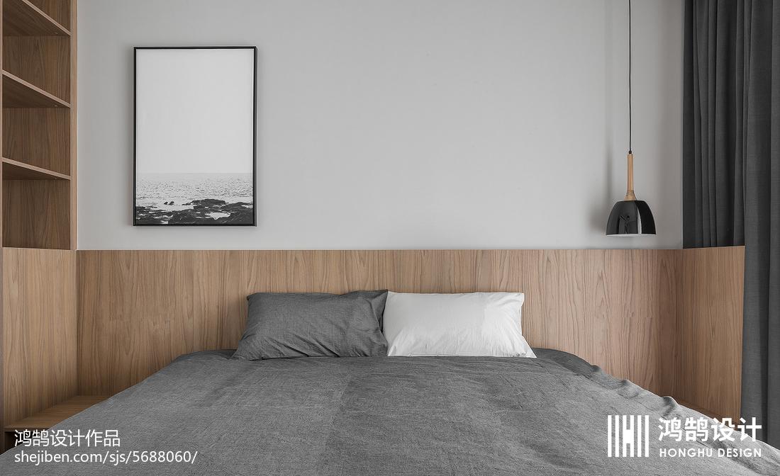 精选88平米二居卧室现代装修设计效果图片大全卧室床头柜现代简约卧室设计图片赏析