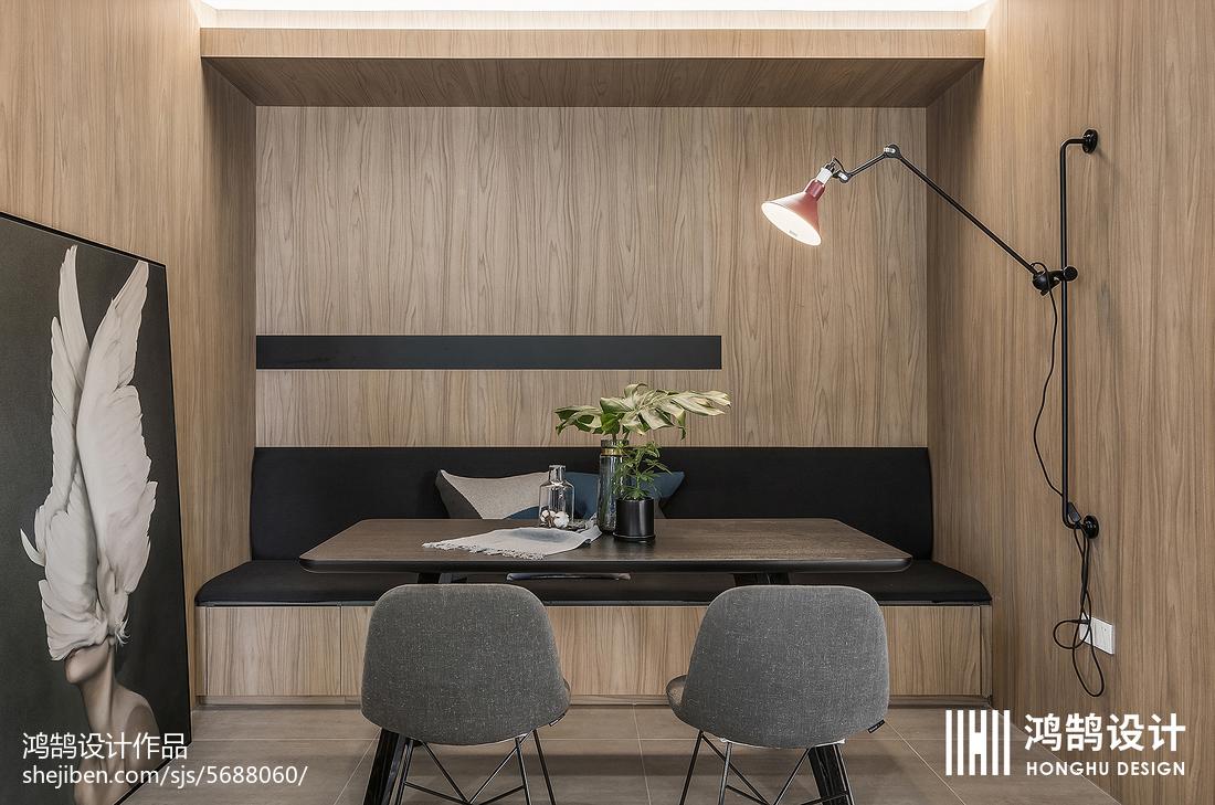 2018精选面积70平现代二居餐厅装修设计效果图片厨房床头柜2图现代简约餐厅设计图片赏析
