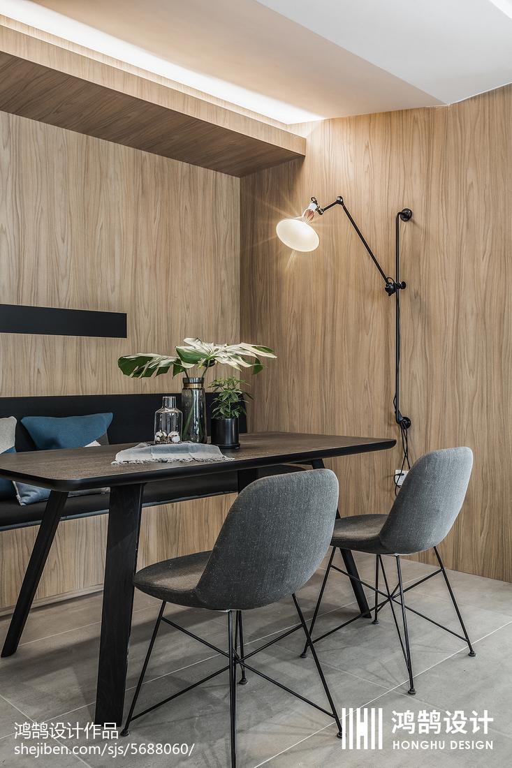 精选78平米二居餐厅现代装修效果图厨房现代简约餐厅设计图片赏析