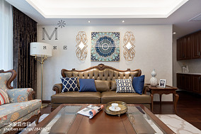 精选86平米二居客厅简欧装修效果图