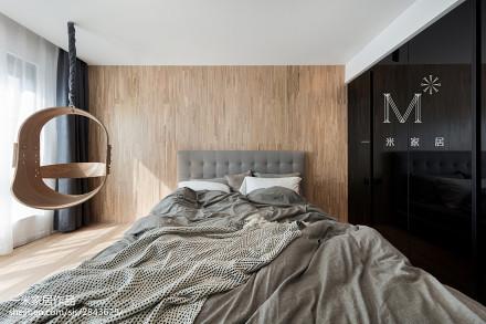 优雅142平北欧二居卧室实景图121-150m²二居北欧极简家装装修案例效果图