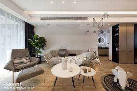 2018精选87平米二居客厅北欧装修设计效果图片大全121-150m²二居北欧极简家装装修案例效果图