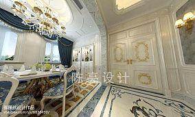 热门116平米简欧别墅餐厅装修设计效果图片