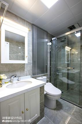 2018面积77平美式二居卫生间装修图片