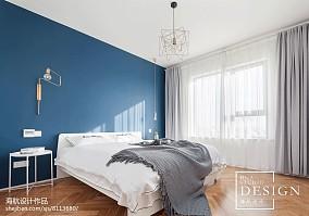 2018面积96平北欧三居卧室装饰图