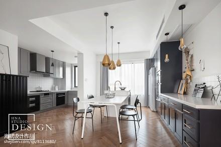 130平北欧餐厅设计图厨房