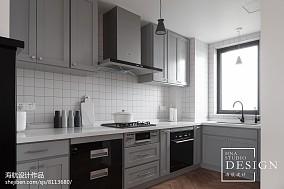 精美面积106平北欧三居厨房装修设计效果图片