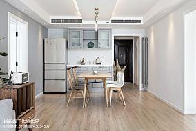 纯净北欧餐厅设计效果图厨房1图北欧极简设计图片赏析