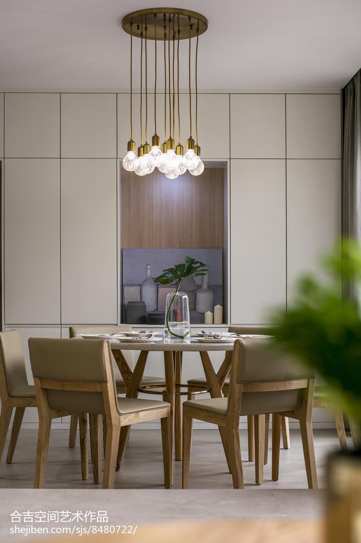 2018面积71平现代二居餐厅实景图片厨房现代简约餐厅设计图片赏析