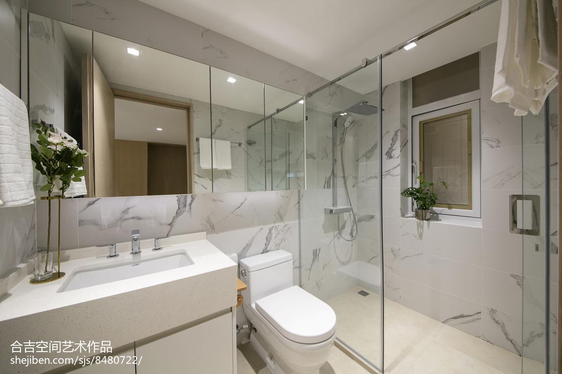 热门现代二居卫生间装饰图片大全卫生间现代简约卫生间设计图片赏析