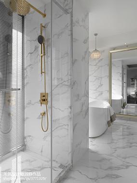 精选105平米三居卫生间现代装修设计效果图片