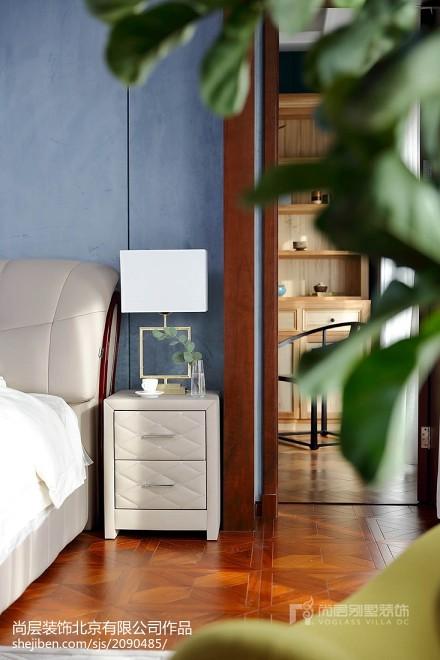 热门面积132平别墅卧室中式效果图卧室