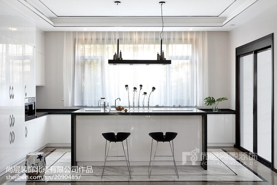 精美120平米中式别墅厨房装修设计效果图片欣赏餐厅中式现代厨房设计图片赏析