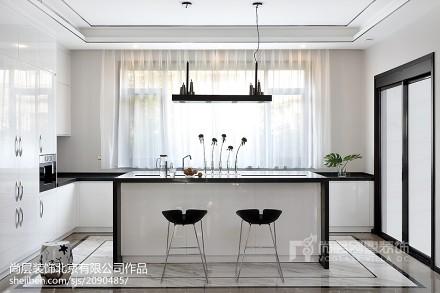 精美120平米中式别墅厨房装修设计效果图片欣赏