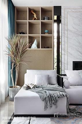 平米中式别墅客厅效果图片别墅豪宅中式现代家装装修案例效果图
