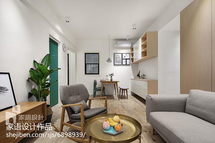 2018面积82平北欧二居客厅装修欣赏图片客厅