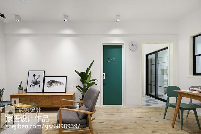2018精选75平米二居客厅北欧装修效果图片大全客厅