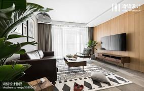 热门北欧三居客厅实景图