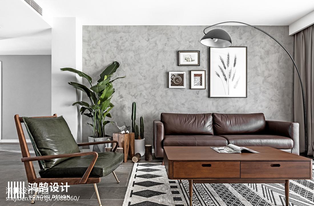 热门面积91平北欧三居客厅装修欣赏图片大全客厅