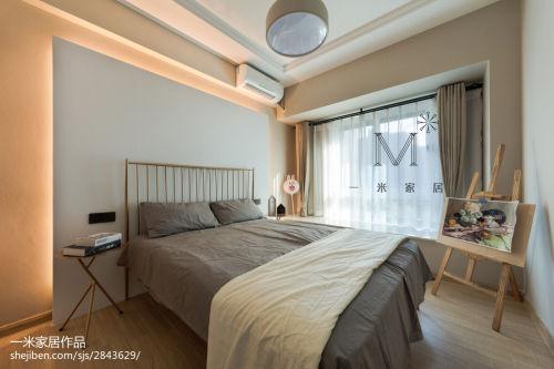 温馨51平现代二居卧室设计案例卧室床